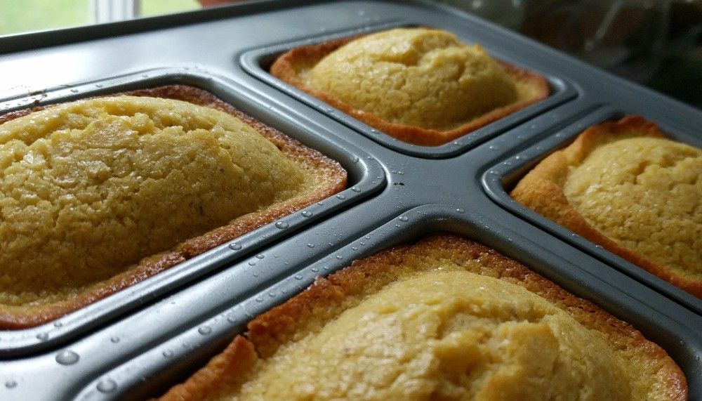 cornbread in tin