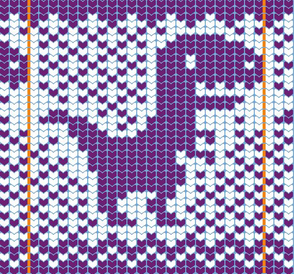 knit chart dino 30wx40h