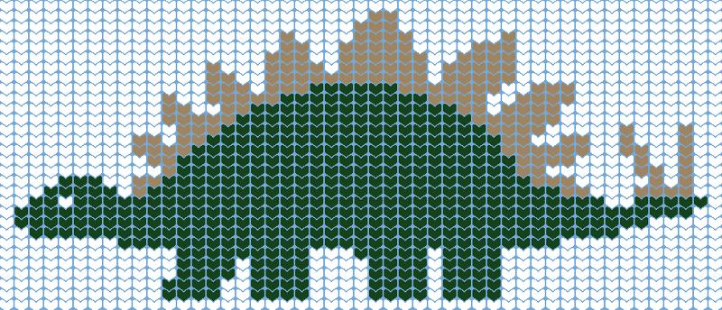 knit chart stego 46wx30h